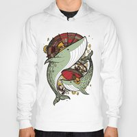 whales Hoodies featuring Whales by green penguin