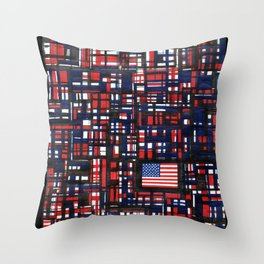 American Lines Throw Pillow
