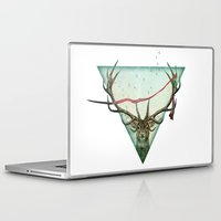 runner Laptop & iPad Skins featuring scarlet runner by Vin Zzep