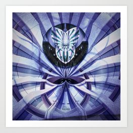 Steel Rays digital art Art Print