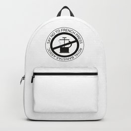 Say No To French Press Backpack