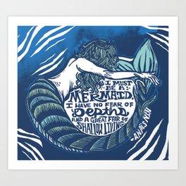 Anais Nin Mermaid Depths Art Print