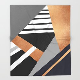 Geometric Combination V2 Throw Blanket