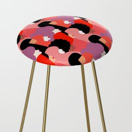 Together Girl Power - Pattern #girlpower Counter Stool