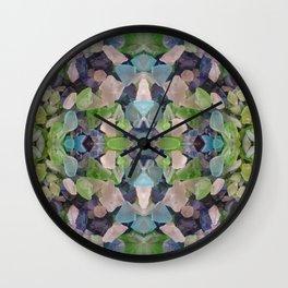 Sea glass mosaic Wall Clock