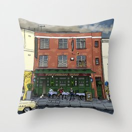 Clouds Over London Throw Pillow