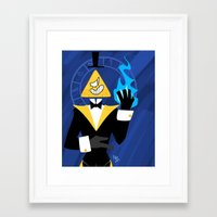 bill cipher Framed Art Prints featuring Cipher by Palolabg