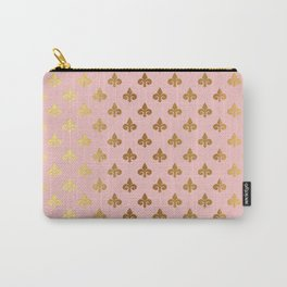 Royal gold ornaments on pink background Carry-All Pouch