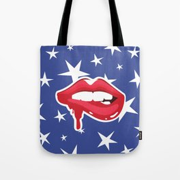 Bite My Lip Patriotic Tote Bag