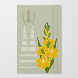 Flowers & Shuttles: Gladiolus Canvas Print