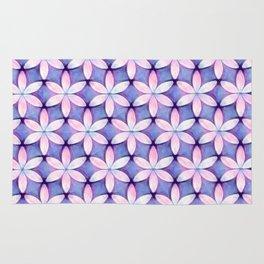 Daisies Pink Blue Rug