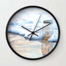 Jar of Dreams - Hawaiian Sunset on the Beach Wall Clock