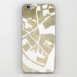 Vilnius map brown iPhone Skin
