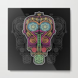 Boho Mask Metal Print