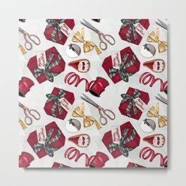 Christmas   Hygge   Gift   Pattern Metal Print
