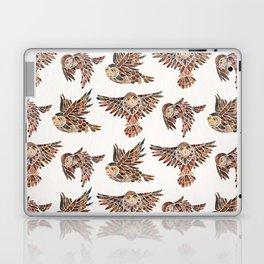 Owls in Flight – Brown Palette Laptop & iPad Skin
