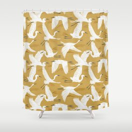 Soaring Wings - Goldenrod Yellow Shower Curtain