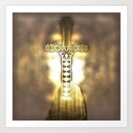 Golden Excalibur Art Print