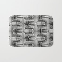 It's Alive! Black and White Op-art Bath Mat