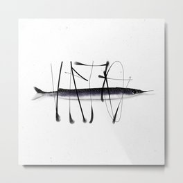 Tag on fish II Metal Print