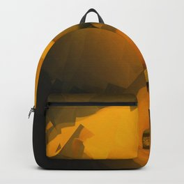 Calla Lily Warm Yellow Cubist Effect Backpack
