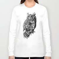 bioworkz Long Sleeve T-shirts featuring Owl 2.0 by BIOWORKZ