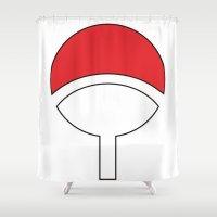 sasuke Shower Curtains featuring SASUKE Uchiha by designbook