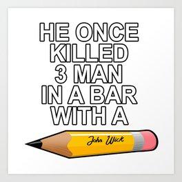john wick Art Print