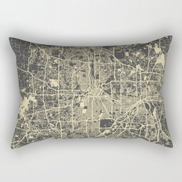 Minneapolis Map Rectangular Pillow