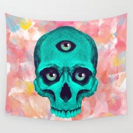 SKULL X BACK Wall Tapestry