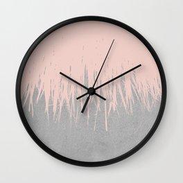 Concrete Fringe Dogwood Wall Clock