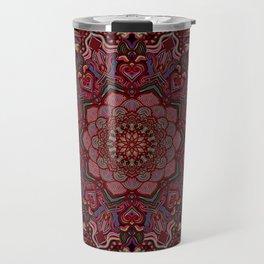 Mandala Project 285   Red Travel Mug