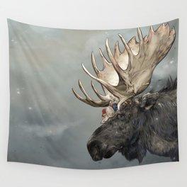 Eerik the Sami Shaman and Hirvi the Moose Wall Tapestry