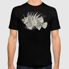 fish mirage chartreuse MEDIUM Black Mens Fitted Tee