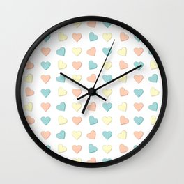Candy Hearts Forever Wall Clock