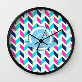 SocialCloud Pattern Wall Clock