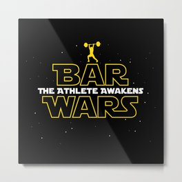 Bar Wars: The Athlete Awakens Metal Print