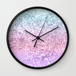 Unicorn Girls Glitter #4 #shiny #pastel #decor #art #society6 Wall Clock