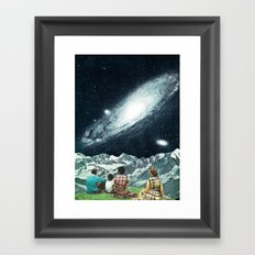 Family Picnic Framed Art Print