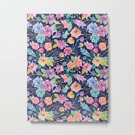Floral Pattern - 01 Metal Print