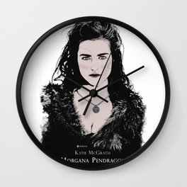 Katie McGrath - Morgana Pendragon color Wall Clock