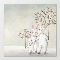 bunnies Canvas Prints featuring Bunnies by Arianna Usai