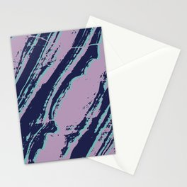 Lilac marble effect Stationery Cards