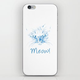 Meow! Simple Cat Style wb iPhone Skin