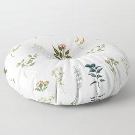 Delicate Floral Pieces Floor Pillow
