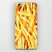 french fries iPhone & iPod Skins featuring FRENCH FRIES for IPhone by Vertigo