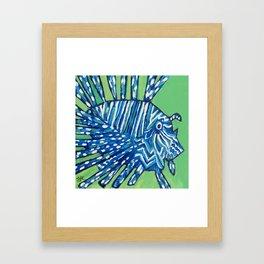 Lion Fish 2, a pretty predator & invasive species Framed Art Print