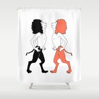 lions Shower Curtains featuring Lions by Gonacas