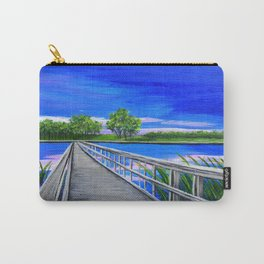 Walking bridge on the lake  Carry-All Pouch