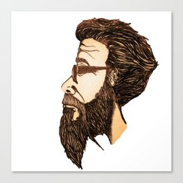 The Bearded One Canvas Print